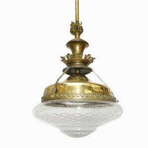 Lámpara de techo estilo Imperio vintage, años 20