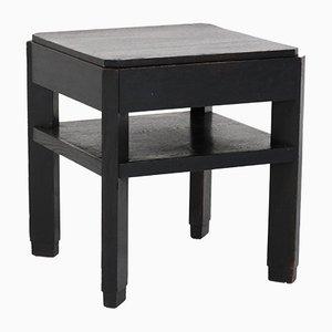 Table Basse Art Déco de l'École Haagse en Chêne Noirci par Frits Spanjaard pour L.O.V.