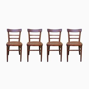 Bistro Chairs, 1950s, Set of 4