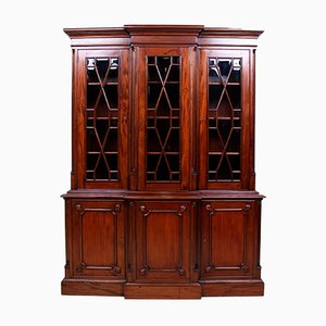 Vintage Mahogany & Glass Bookcase, 1970s