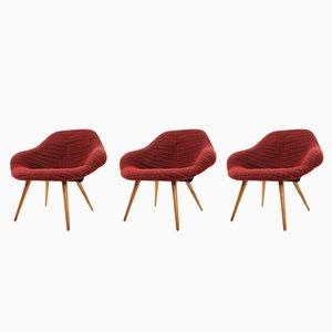 Stühle aus Glasfaser von František Jirák, 1970er, 3er Set