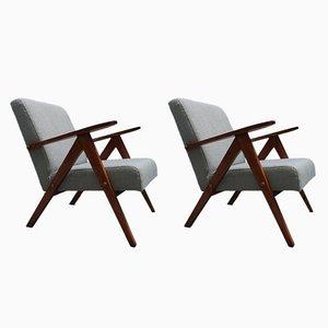 Mid-Century Lehnstühle, 1960er, 2er Set