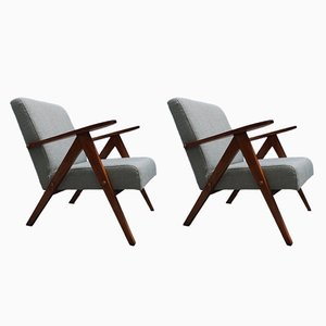 Mid-Century Modern Easy Chairs, 1960s, Set of 2