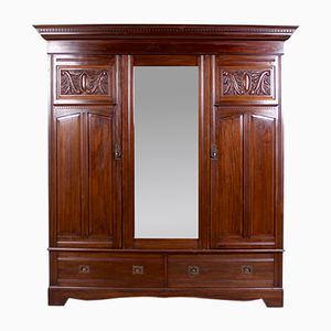 Large Antique Edwardian Mahogany Armoire
