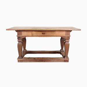 Antique 19th Century Carved Oak Library Console Table