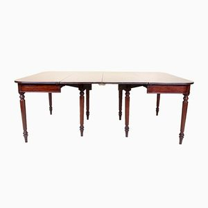 Large Antique Mahogany Dining Tables, Set of 2