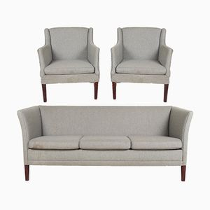Vintage Danish Sofa & 2 Chair Suite