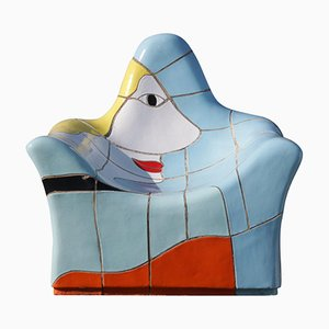 Chaise Vintage en Céramique par Jan Snoeck pour MS Volendam, 1990s