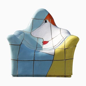 Vintage Stuhl aus Keramik von Jan Snoeck für MS Volendam, 1990er