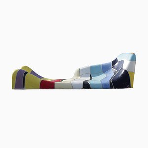 Sofá cama vintage de cerámica de Jan Snoeck para MS Volendam, 1991