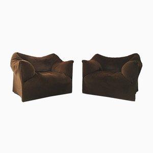 Große Le Bambole Sessel von Mario Bellini für Cassina, 1970er, 2er Set