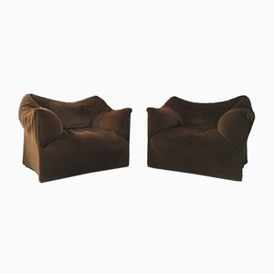 Large Le Bambole Armchairs by Mario Bellini for Cassina, 1970s, Set of 2