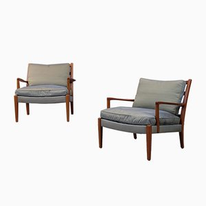 Löven Easy Chairs by Arne Norell for Arne Norell AB, 1960s, Set of 2