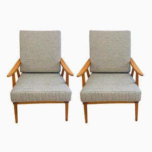 Grey Boomerang Armchairs from TON, 1960s, Set of 2