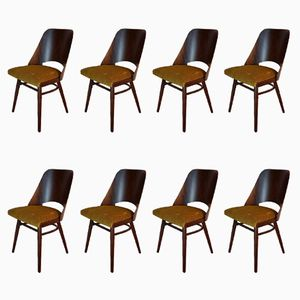 Mid-Century Czech Walnut Chairs by Frantisek Jirak for TON, 1960s, Set of 8