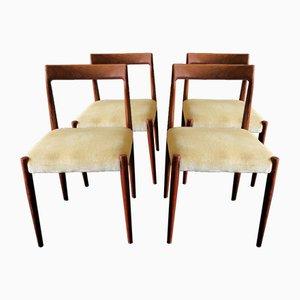 Mid-Century Esszimmerstühle aus Palisander, 1960er, 4er Set