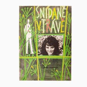 Vintage Czech Picnic on The Grass Movie Poster by Vladimír Jarcovják, 1960s