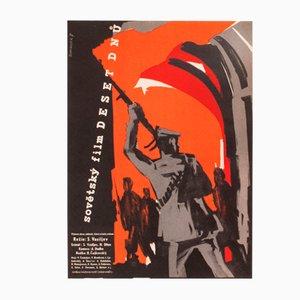 Affiche de Film Vintage October Days par W.A. Schlosser, Tchéquie, 1959