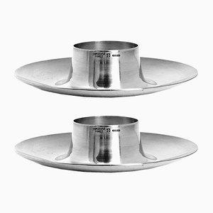 Portauova vintage placcati in argento di Christofle, anni '60, set di 2