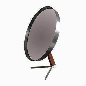 Specchio vintage in acciaio e teak di Robert Welch per Durlston, anni '60