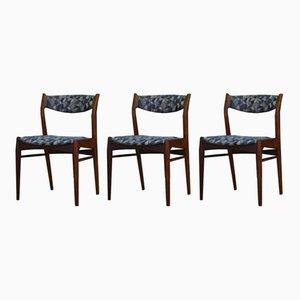 Dänische Mid-Century Stühle aus Teak, 1970er, 3er Set