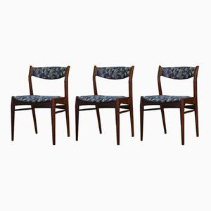 Mid-Century Teak Danish Chairs, 1970s, Set of 3