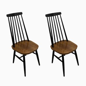Wooden Chairs, 1960s, Set of 2