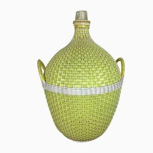 Korbflasche in Kunststoff mit Griffen, 1960er