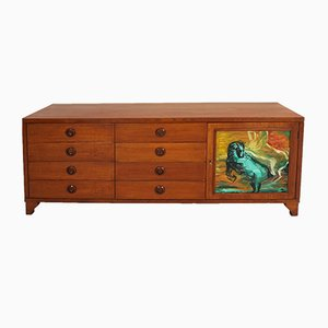 Vintage Italian Sideboard with Eight Drawers