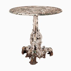 Antiker industrieller Orangerie-Tisch aus Gusseisen, 1850er