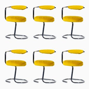Cobra Stühle von Giotto Stoppino für Kartell, 1970er, 6er Set