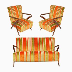 Mid-Century Italian Living Room Set by Carlo de Carli, 1940s