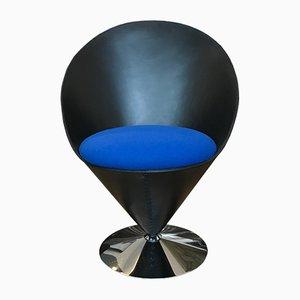 Kegelförmiger Sessel aus Leder von Verner Panton für Vitra, 1983