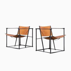 FM61 Stühle mit würfelförmigem Gestell von Radboud van Beekeum für Pastoe, 1980er, 2er Set