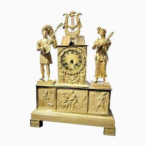 Reloj de péndulo de mesa Imperio, década de 1820