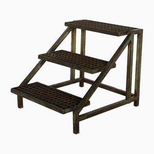 Escalera vintage de hierro, años 70