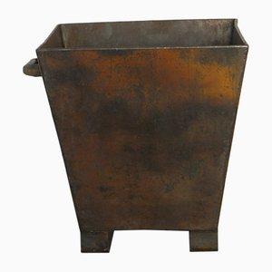 Macetero vintage de hierro, años 70