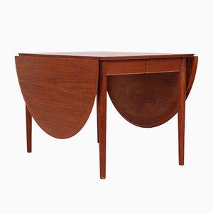 Mesa de comedor extensible modelo 227 vintage de teca de Arne Vodder para Sibast
