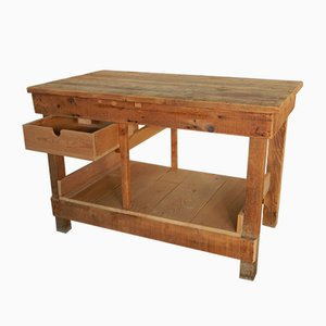 Vintage Fir Workbench, 1970s