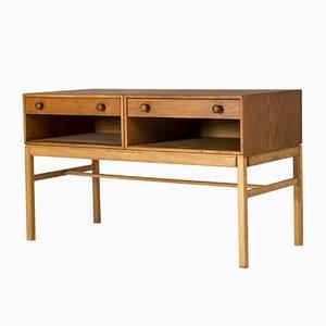 Petite Table Console en Chêne par Sven Engström & Gunnar Myrstrand pour en Étaingströms, 1960s
