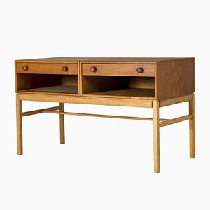 Small Oak Console Table by Sven Engström & Gunnar Myrstrand for Tingströms, 1960s