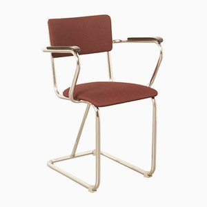 Vintage Chromed Tubular Steel Armchair from Fana Rotterdam