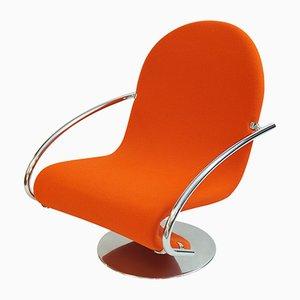 Chaise 1-2-3 System Vintage par Verner Panton pour Fritz Hansen