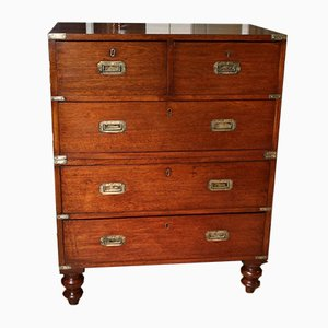 Mahogany Campaign Chest of Drawers, 1840s