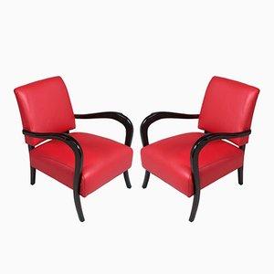 Art Deco Sessel mit Gestell aus ebonisiertem Nussholz von Paolo Buffa, 1930er, 2er Set