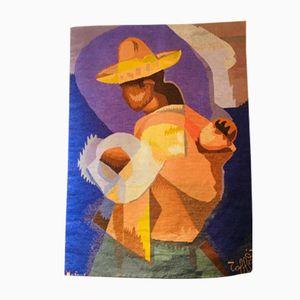 Tapisserie Maternité Pérou Vintage par Louis Toffoli pour Robert Four