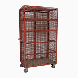 Vintage Industrial Storage Trolley, 1970s