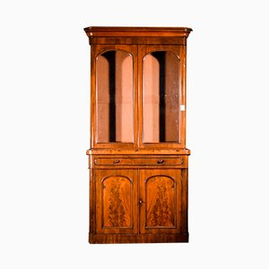 English Victorian Mahogany Bookcase, 1880s