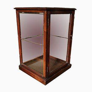 Small Mahogany Display Cabinet, 1900s