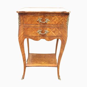 Vintage Golden Bronze Inlaid Side Table, 1930s